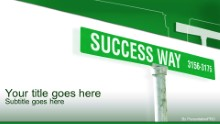 Success Way 01 Widescreen PPT PowerPoint Template Background