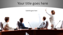 The Presenter Widescreen PPT PowerPoint Template Background