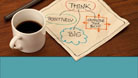 PowerPoint Templates - Thoughts Over Coffee Teal Widescreen