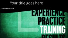 PowerPoint Templates - Training Results Widescreen
