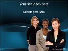 Download business diversity females PowerPoint Template and other software plugins for Microsoft PowerPoint