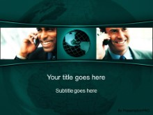 Download global communication 02 teal PowerPoint Template and other software plugins for Microsoft PowerPoint