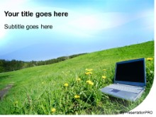 PowerPoint Templates - Outdoor Laptop