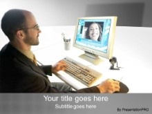 Download video conference gray PowerPoint Template and other software plugins for Microsoft PowerPoint