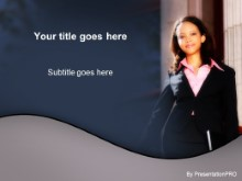 Download welcoming business woman PowerPoint Template and other software plugins for Microsoft PowerPoint