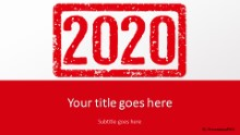 2020 Stamp Red Widescreen