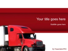 Download red truck PowerPoint Template and other software plugins for Microsoft PowerPoint