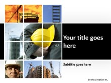 Conceptual Construction PPT PowerPoint Template Background