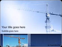 Download construction crane PowerPoint Template and other software plugins for Microsoft PowerPoint