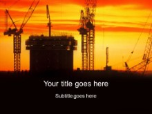 Download sunset cranes PowerPoint Template and other software plugins for Microsoft PowerPoint