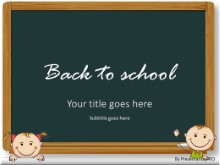 Back To School Kids PPT PowerPoint Template Background