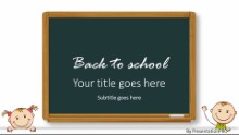Back To School Kids Widescreen PPT PowerPoint Template Background
