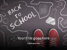 Back To School Sidewalk PPT PowerPoint Template Background