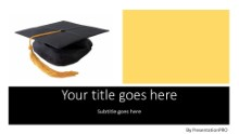 Graduation Cap Widescreen PPT PowerPoint Template Background