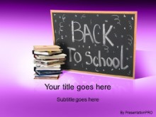 Download back 2 school 2 purple PowerPoint Template and other software plugins for Microsoft PowerPoint