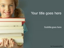 Download girl with books PowerPoint Template and other software plugins for Microsoft PowerPoint