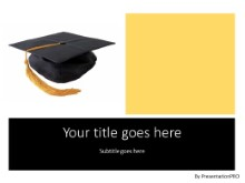 Graduation Cap PPT PowerPoint Template Background