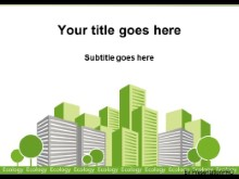 Download ecology green city PowerPoint Template and other software plugins for Microsoft PowerPoint