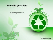 Download recycle with leaves PowerPoint Template and other software plugins for Microsoft PowerPoint