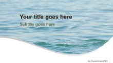 Water Waves 01 Widescreen PPT PowerPoint Template Background