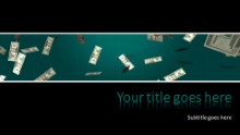 Falling Money Widescreen PPT PowerPoint Template Background