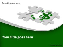 Dollar Sign Puzzle PPT PowerPoint Template Background