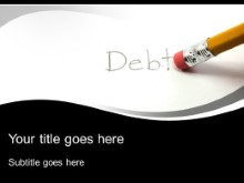 Download erase debt PowerPoint Template and other software plugins for Microsoft PowerPoint
