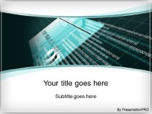 PowerPoint Templates - online credit teal