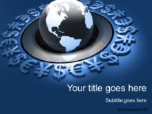 Download world currency globe blue PowerPoint Template and other software plugins for Microsoft PowerPoint