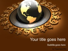PowerPoint Templates - World Currency Globe Gold