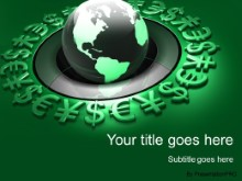 Download world currency globe green PowerPoint Template and other software plugins for Microsoft PowerPoint