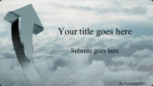 Sky Profits Widescreen PPT PowerPoint Template Background