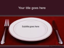 PowerPoint Templates - Caual Place Setting