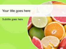 Download citrus fruits green PowerPoint Template and other software plugins for Microsoft PowerPoint
