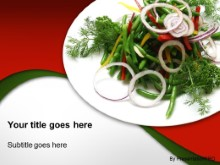 Download entree salad PowerPoint Template and other software plugins for Microsoft PowerPoint