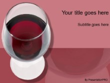 Download glass of red PowerPoint Template and other software plugins for Microsoft PowerPoint