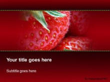 Download strawberry fever PowerPoint Template and other software plugins for Microsoft PowerPoint