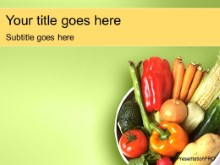 Download veggie PowerPoint Template and other software plugins for Microsoft PowerPoint
