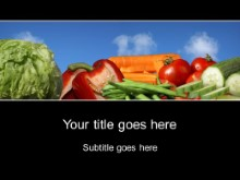 Download veggie diet PowerPoint Template and other software plugins for Microsoft PowerPoint
