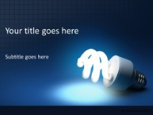 CFL Lightbulb PPT PowerPoint Template Background