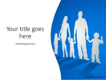 Cutout family PPT PowerPoint Template Background