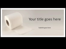 Toliet Paper PPT PowerPoint Template Background