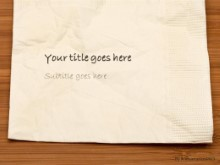 Table Napkin PPT PowerPoint Template Background