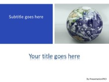Earth Revolving PPT PowerPoint Template Background