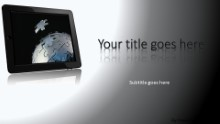 Global Puzzle Tablet Widescreen PPT PowerPoint Template Background