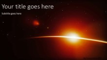 Planet Sunrise Widescreen PPT PowerPoint Template Background