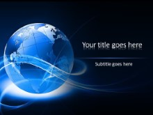 Abstract Globe PPT PowerPoint Template Background