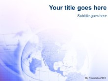 Download blu globe PowerPoint Template and other software plugins for Microsoft PowerPoint