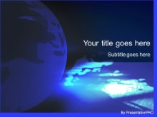 Download blue glowing PowerPoint Template and other software plugins for Microsoft PowerPoint