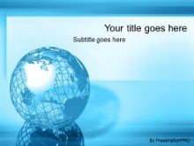 Download blue wire globe PowerPoint Template and other software plugins for Microsoft PowerPoint